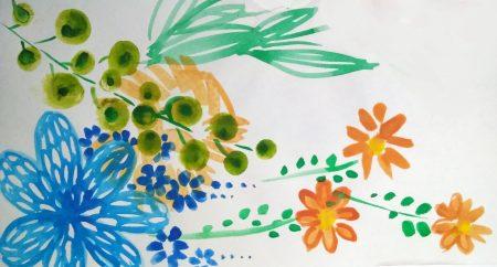 Ilustracija cvetova bobica i biljaka